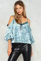 Nasty Gal nastygal Just Crush Me Velvet Top