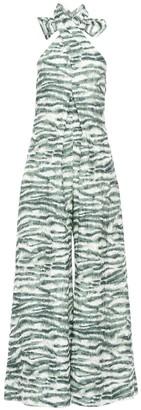 Cult Gaia Sandi Printed Linen & Rayon Jumpsuit