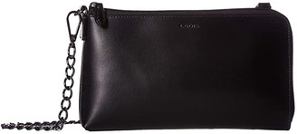 Lodis Audrey RFID Nova L-Zip Crossbody (Black/Black) Cross Body Handbags