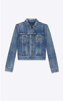 Saint Laurent Denim Jacket Indigo Vintage Blue