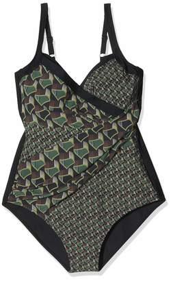 Miraclesuit Women's Maillot De Bain Sculptant Une Piece-Mosaique-Athena-Vert-Miradonna One Piece Swimsuit