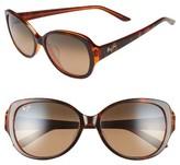 Maui Jim Women's Swept Away 56Mm Polarizedplus2 Sunglasses - Blue Grey/ Teal/ Neutral Grey