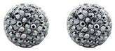 Butler & Wilson Large Pave Pewter Stud Earrings