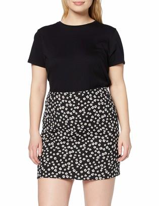 Dorothy Perkins Women's Black Ditsy Floral Print Textured Mini Skirt 14