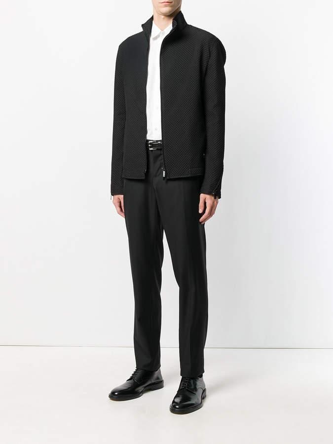 Emporio Armani textured zip jacket