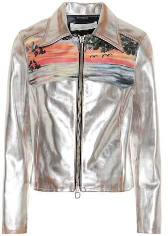 Golden Goose Mira metallic leather jacket