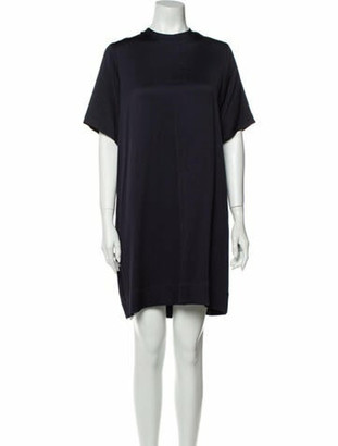 Rosetta Getty Crew Neck Knee-Length Dress w/ Tags Blue