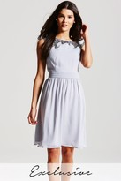 Little Mistress Grey Embellished Top Dress