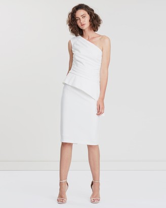 Montique - Women's White Midi Dresses - Harlow Cocktail Dress - Size One Size, 16 at The Iconic