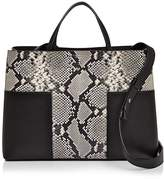 Tory Burch Block-T Mixed Leather Triple-Compartment Tote