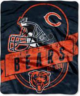 "Northwest Company Northwest Chicago Bears 50x60in Plush Throw Blanket ""Grand Stand"""
