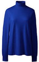 Classic Women's Tall Cotton Mock Turtleneck-Gemstone Teal