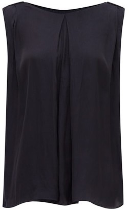 Carl Kapp - Claudine Draped Voile Top - Navy
