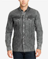 William Rast Men's Black Wash Denim Shirt