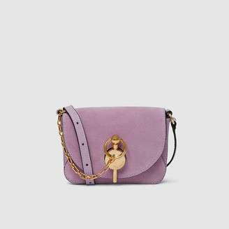 J.W.Anderson Purple Nano Keyts Suede Shoulder Bag One Size