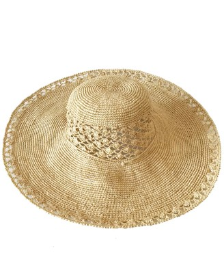 Maraina London Sofia Large Raffia Sun Hat Natural
