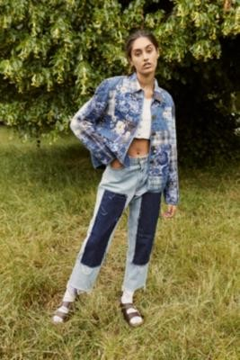 Urban Renewal Vintage Remade From Vintage Levi's Patch Panel Jeans - Blue S at Urban Outfitters