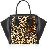BCBGMAXAZRIA Joselyn Curved Bar Cheetah Print Satchel