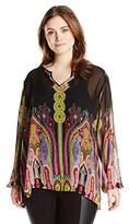 Single Dress Women's Plus Size Marisol Long Sleeved Blouse
