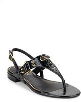 Lauren Ralph Lauren Valinda Patent Leather Thong Sandals