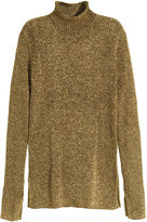 H&M Glittery Turtleneck Sweater - Gold-colored - Ladies