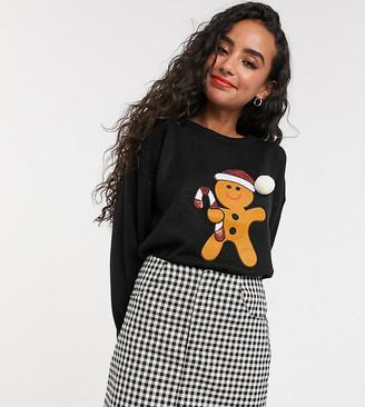 Brave Soul Petite sequin applique christmas sweater