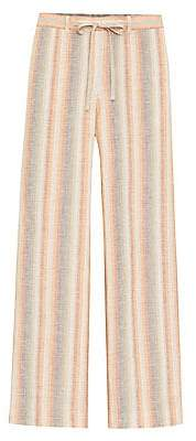 Lafayette 148 New York Women's Skyscraper Stripe Wide-Leg Linen Pants
