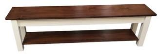 """Alcott Hillâ® Teri Wood Bench Alcott HillA Size: 17"""" H x 24"""" W x 12"""" D"""