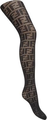 Fendi FF motif tights