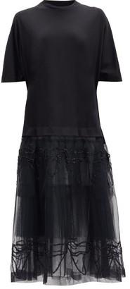 Simone Rocha Tulle-skirt T-shirt Dress - Black
