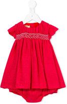 La Stupenderia rose embroidered dress - kids - Cotton/Polyamide/Viscose - 6 mth