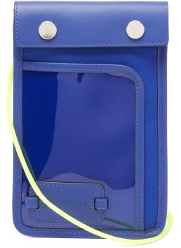 J.W.Anderson Pulley Leather Cross-body Pouch - Mens - Blue