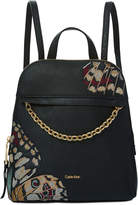 Calvin Klein Hera Pebble Embroidered Small Backpack