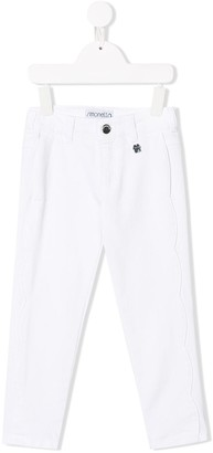 Simonetta Wave Pattern Trousers