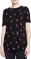 The Kooples Floral Embroidered Tee