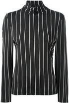 Balenciaga roll neck striped top