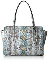 GUESS Devyn Large Satchel-Sky Multi