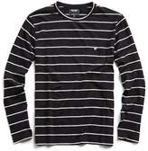 Todd Snyder Long Sleeve Classic Stripe T-Shirt in Black