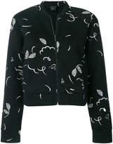 Armani Exchange patterned cropped bomber jacket