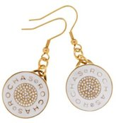 Rochas ROD BO001/02B Women's Pendant Stainless Steel Earrings with Swarovski Crystal/Gold (White)