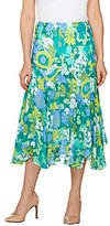 Bob Mackie Bob Mackie's Fully Lined Floral Print Skirt
