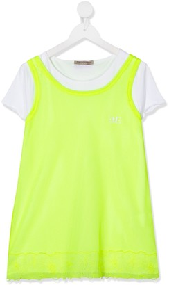 Ermanno Scervino TEEN layered neon T-shirt