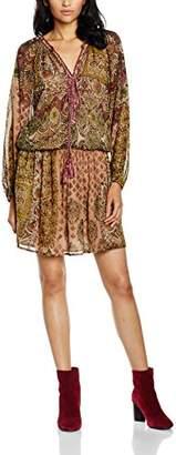 Derhy Women's Sanderling Knee-Length Printed Long Sleeve Dress,(Manufacturer Size: Large)