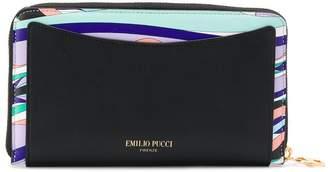 Emilio Pucci geometric panelled zip wallet