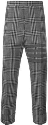 Thom Browne 4-bar checkered trousers