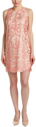 Brinker & Eliza Women's Sleeveless Embellished Lace Shift with Scallop Hem