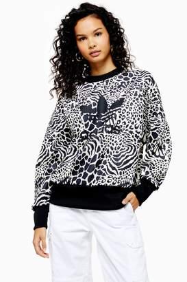 adidas Womens Leopard Sweatshirt By Brown