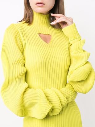 Bottega Veneta Cutout Ribbed Dress