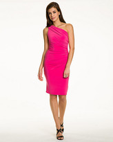 Le Château Knit One-Shoulder Ruched Dress