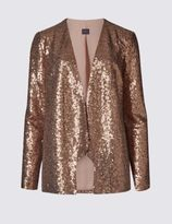 Marks and Spencer Long Sleeve Sequin Jacket